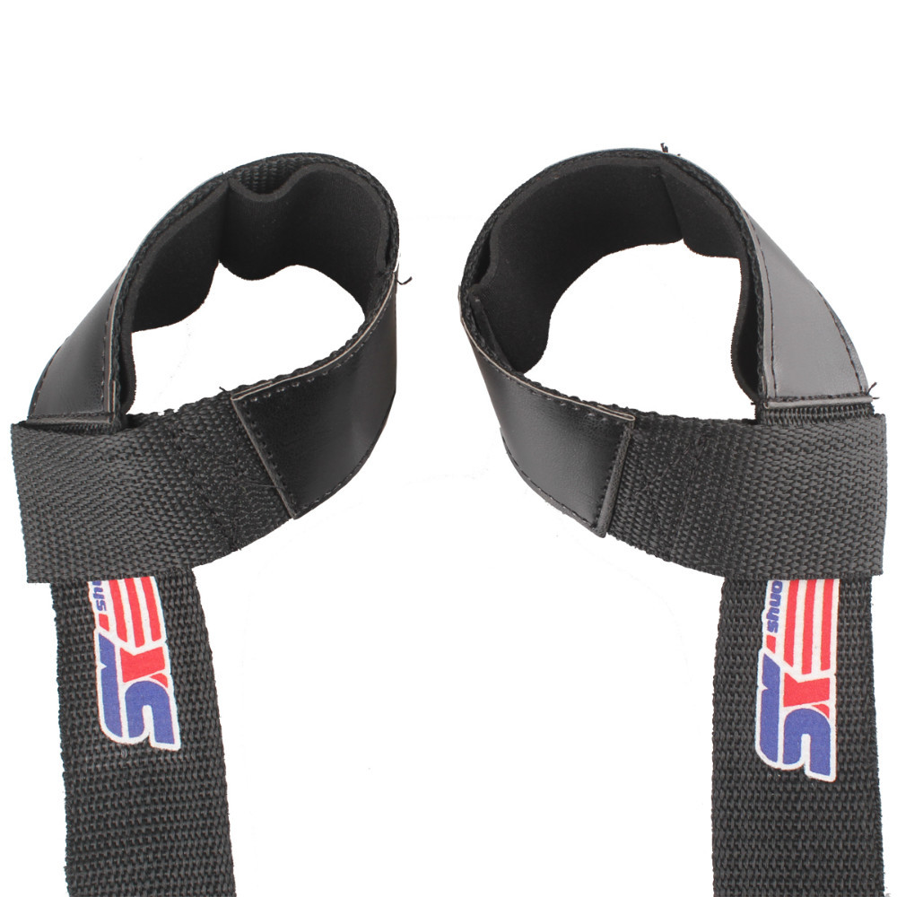 Free Shipping Padded Weight Lifting Hand Wrist Bar Support Strap - Black(China (Mainland))