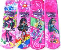 12pairs/lot kids cartoon Monster high cotton socks children cartoon socks boys and girls cartoon socks