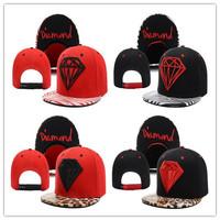 1 PC Adjustable Fashion 5 Panel Hat Diamond Snapback cap Men Basketball football Hip Pop Baseball cap