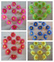 Hot ! 200Pcs 4cm Rural Style Little Sun  Flower Head Artificial Flowers Wedding Decoration Flower  11-Color (e38)