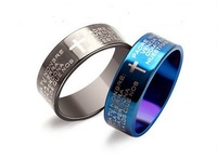 2015 New Fashion Stainless Bible Cross Men Ring Free Shipping,Men Jewelry Size6,7,8,9,10,11