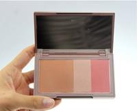 (Min Order 10$) New Naked Flush brand makeup blush Bronzer &Highlighter &Blush 3 in 1 Blush Pallet Makeup Blusher
