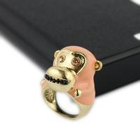 Fashion   monkey ring female glaze finger ring