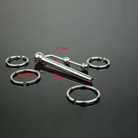 4 Rings Stainless Steel Penis Plugs Prince Wand Urethral Catheters Dilator Sound Toys COPIS37