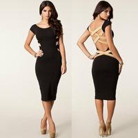 Milan Fashion ; Slim fit women Bandage bodycon dress ; sexy Halter dresses ; vestidos de festa ropa mujer; saias femininas