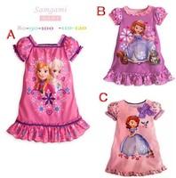Summer Girls Frozen Dress 2014 new 1-6yrs childrens dress cotton design kids more color retail free shipping
