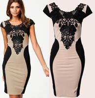 Milan Fashion ; Slim fit women casual bodycon dress ; retro lace embroidered praty dresses ; vestidos de festa saias femininas