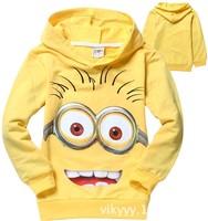 1pcs/lot 2014 despicable me minion boys girls nova full t-shirts kids children t shirts Apparel & Accessories Tops & Tees