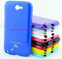 Free Shipping Korea Original Mercury GOOSPERY JELLY CASE TPU Case for Samsung Galaxy note 2 N7100 Soft TPU case retail package