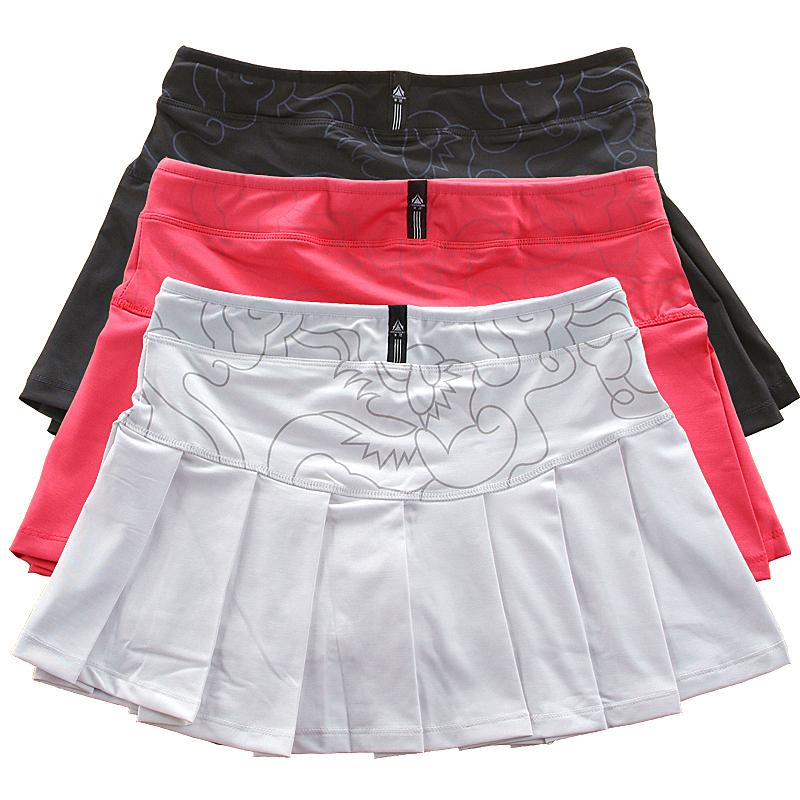 Acme printing elastic comfortable tennis skirts sports fitness skirt skirt The same color panties badminton skirts fitness(China (Mainland))