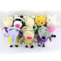 Free Shipping 8pcs/set Peppa Pig Family Peppa Pig Friends peppa pig plush peppa pig Friend  candy suzy zoe pedro richard