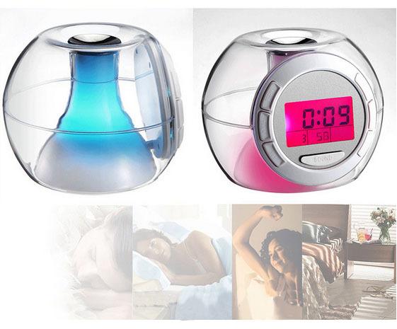 AT022 Clock/Alarm Table Clock, 7 Colors(auto changed) With Natural Voice Alarm, Digital Clock(China (Mainland))