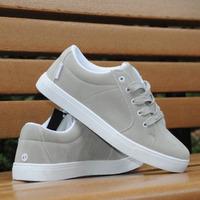 Grey color nubuck leather skate shoes fashion shoes casual leather shoes men's plate shoes elevator
