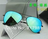 Free shipping Hot Men's and Women's Designer Sunglasses Black Frame Iridium Lens 62mm With Box Case all  1pcs #3026