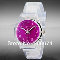 NEW Willis mini Women Colorful Striped Print Quartz Analog Watch #6018(green.purple.orange)Quartz watch+free shipping
