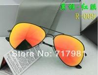 Free shipping Hot Men's Women's Designer Sunglasses Black Frame Iridium Lens 58mm With Box Case all  1pcs