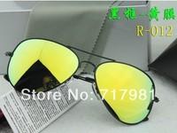 Free shipping Hot Men's and Women's Designer Sunglasses Black Frame Iridium Lens 62mm With Box Case all  1pcs
