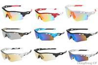 2014 Hot Sunglass Men's Cycling Blue Frame Sport Sunglasses Radarlock Path Sport Eyewear Radar 5 Pcs Lens With Box Free Shipping