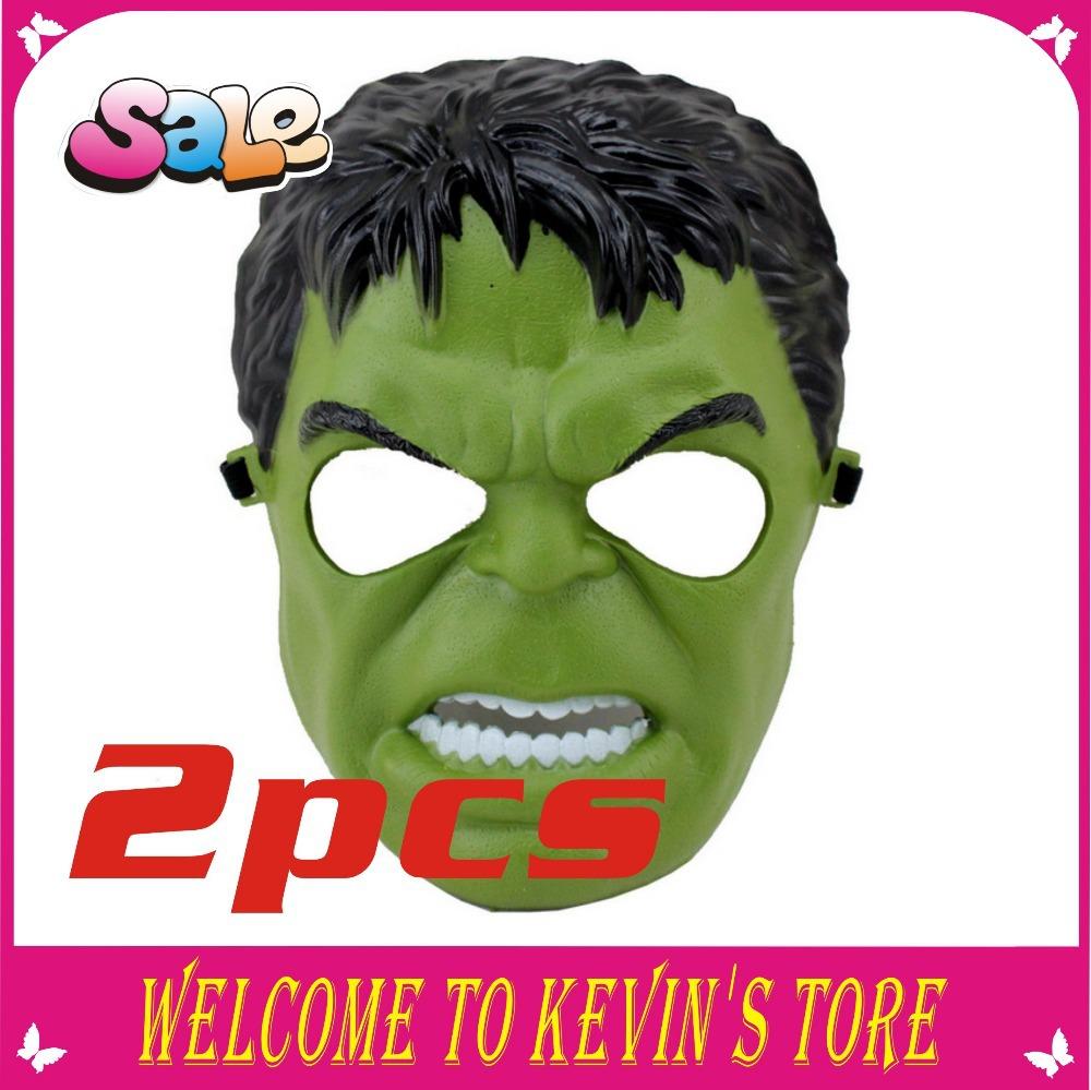 Chegada nova Hulk máscara máscara de Halloween Cosplay preto e verde máscara do partido(China (Mainland))