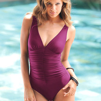 L-4XL Noble Plus Size 2014 New One Pieces Swimsuit Large Size Swimwear Slim With Inside Pads High Quality 3Colors Freeshipping