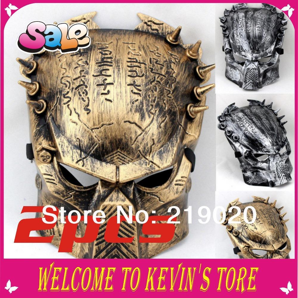 2014 New Arrival The Predator Máscara 3colors máscara de Halloween Cosplay Party Mask 2pcs/wholesale Máscara Masquerade(China (Mainland))