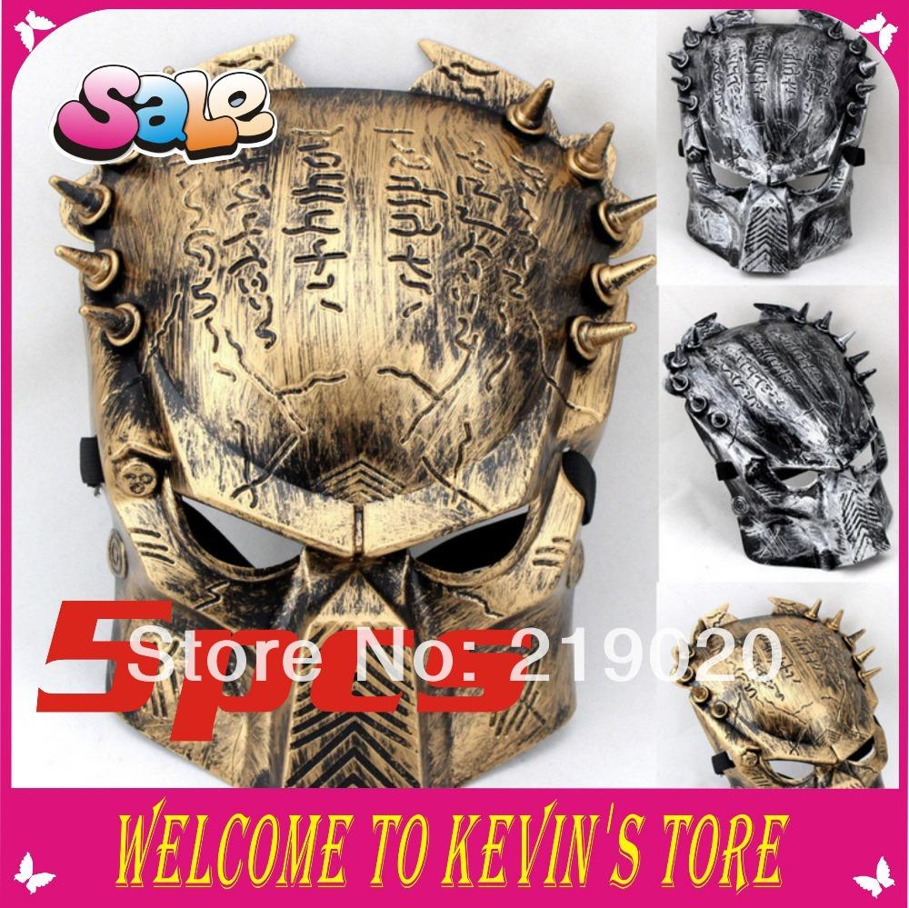 2014 New Arrival The Predator máscara Halloween Cosplay máscara 3 cores partido máscara Masquerade mascarar 5 pcs / atacado(China (Mainland))