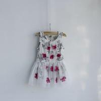 New! Wholesale Summer Child girl  Flower Sweet Cute Baby girl Dress Casual Children Girl Dress  Gause  Kids Dress