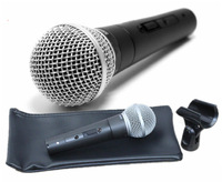 Free shipping SM58S-LC vocal sound record Dynamic Microphone with bag not include the stand and cable