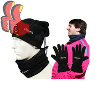 A+++ 2014 Winter Uniforms Fan Kit Outdoor Sports Futbol Fleece Collar Wind Mask Football Cap Gloves Scarf Jersey