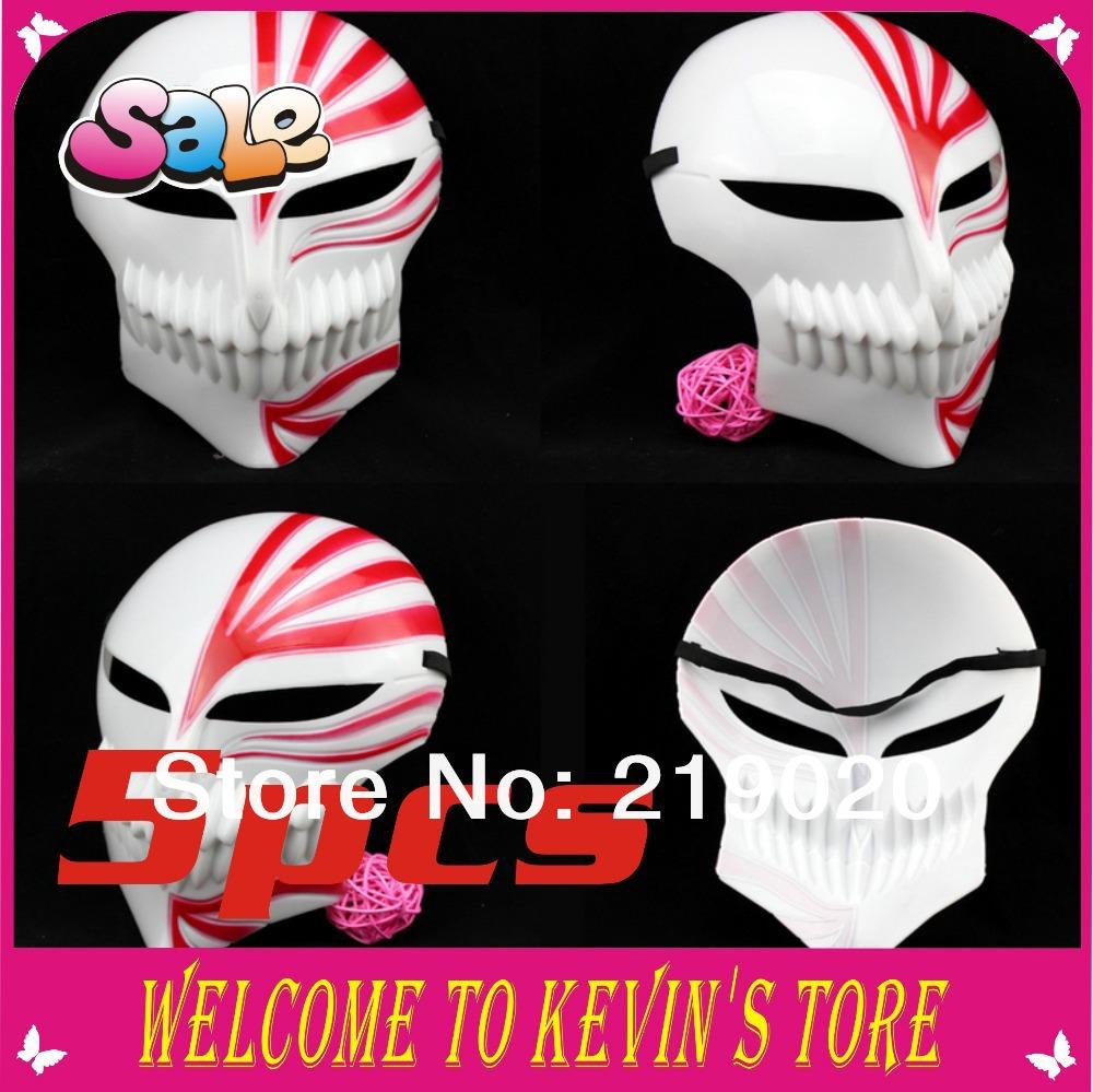 2014 New Arrival The King of Terrors Máscara Halloween Cosplay máscara branca e uma máscara 5pcs/wholesale máscara do partido do disfarce Vermelho(China (Mainland))