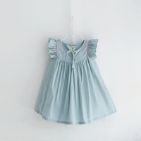 New!  High Quality Summer Child girl  Soft  Dot Sweet Cute Baby girl Dress Cotton Casual Children Girl Dress   Kids Dres