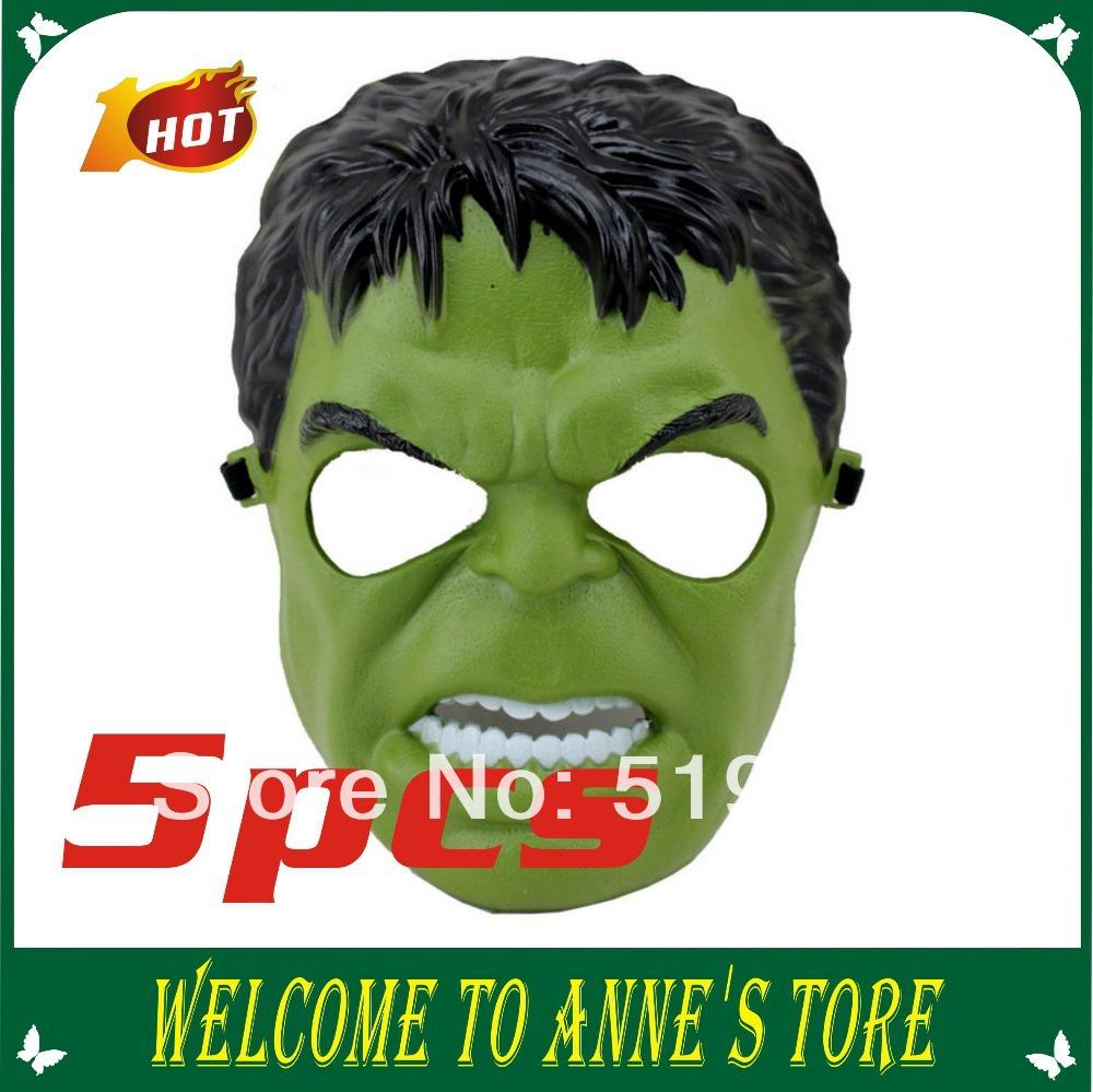 Novo Halloween Pvc partido verde preto Hulk máscara Masquerade herói máscara facial máscara de Cosplay(China (Mainland))