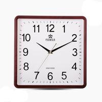 Overlord quartz table clocks hanging wall clock living room when the 12-inch square wood trumpet minimalist fashion creative per