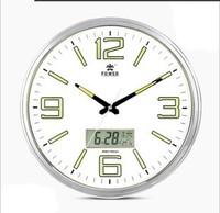 POWER King watches mute 17-inch large luminous living room wall clock calendar calendar pocket watch manufacturers authentic