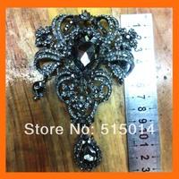 Elegant Rhinestone brooch pins for Wedding Bouquet 13*9m  200pcs/lot
