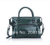 Amy green bowing bag  leather Boston bag simple women bag messenger Legacy Leather Flight Bag Free Shipping 0375