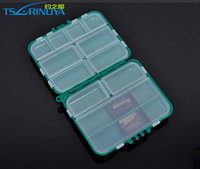 Free shipping, Double layer hard plastic, fishing tackle, storage,  sundries,   lure, accessories,  tool box