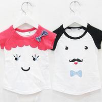free shipping 2014 summer fight sleeve boys clothing girls clothing baby child short-sleeve T-shirt tx-1892