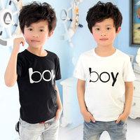 free shipping 2014 summer letter boys clothing baby child short-sleeve T-shirt tx-3093 basic shirt