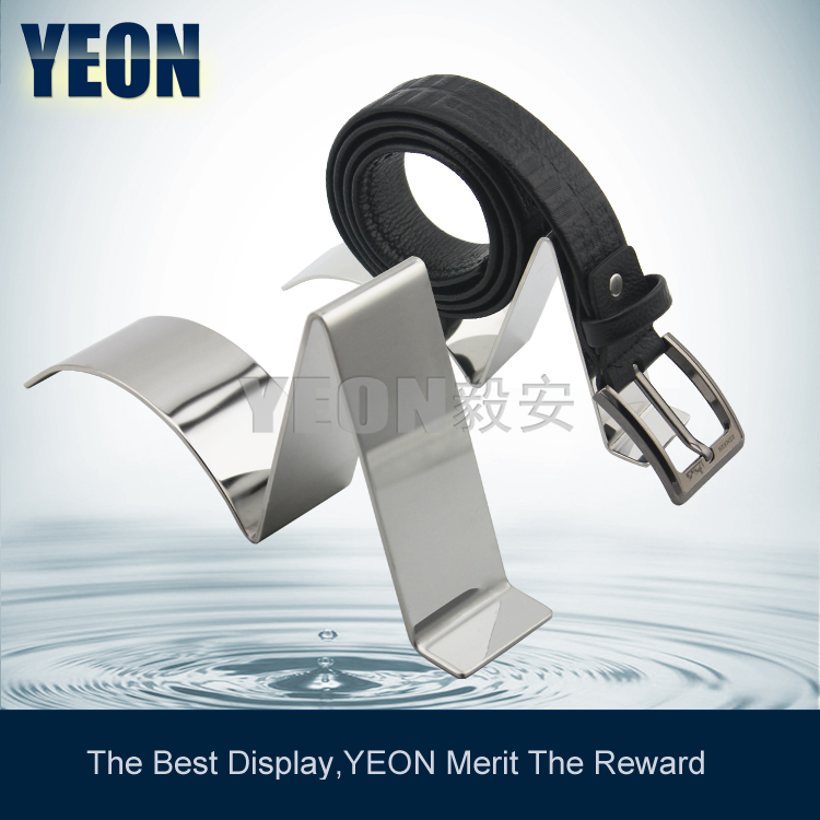 YEON practical stainless steel mirror belt display belt rack stand shop equipment for fashion store(China (Mainland))