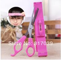 Free shipping DIY bangs hair styling tool kit scissors