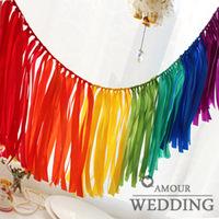 Garland set wedding birthday decoration ribbons lh15