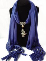 Ccb bead alloy christmas pendant scarf cape fashion new arrival 2013 blue scarf