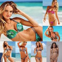 Printed Bikini , multicolor leopard bikini