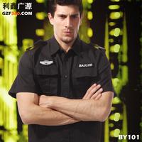 Summer short-sleeve training uniform set male security men suit outerwear squareindowntown short-sleeve suit
