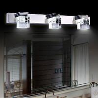2014 free shipping indoor lighting fixture wall lamp mirror Crystal light living bathroom light des appliques 9w Wandleuchte