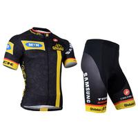 SWODART 2014 ciclismo la bicicleta MTN black and yellow cycling jersey with shorts pant kits for men's bike sportwear
