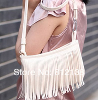2014 spring and summer Fashion PU small tassel messenger bag, shoulder bag, bag-013
