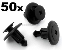 In Stock New OEM 50x for Nissan Plastic Trim Panel Clips- Bumper Sideskirt Wheel arch lining mudguard Free Shipping