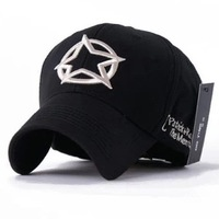 Baseball cap outdoor sports cap five-pointed star hat male summer 100% cotton spring and autumn02